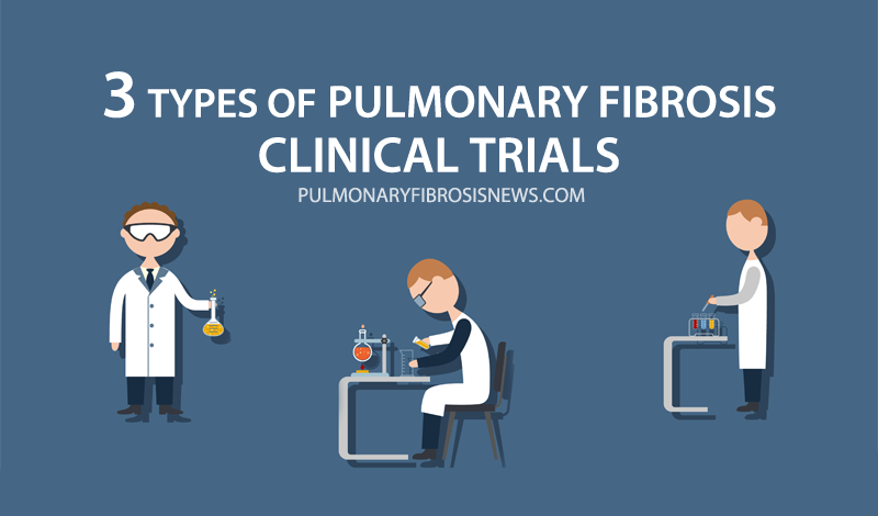 3 types pulmonary fibrosis clinical trials