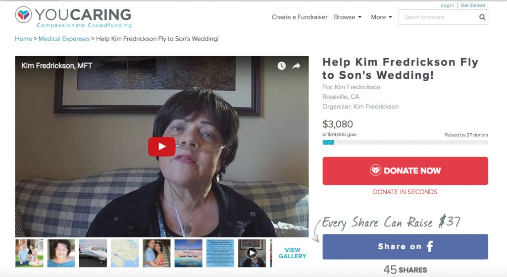 Help Kim Attend Son's Wedding www.youcaring.com/helpkimfly